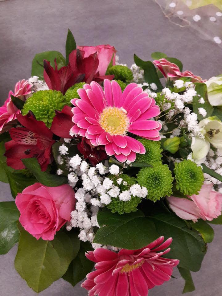 bouquet-rond-gerbera-roses