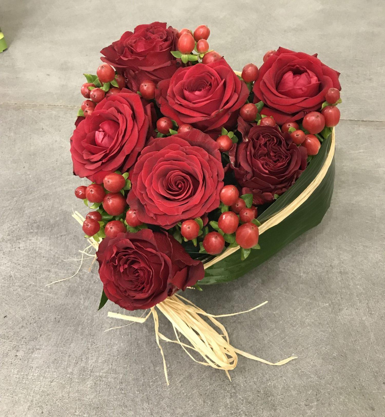 coeur-roses-rouge